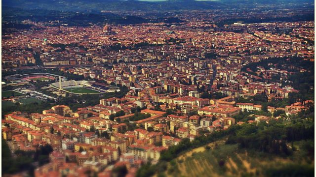Aerial documentary over Florence